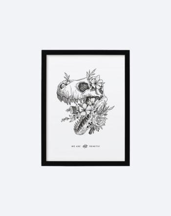 product_print_black_frame_30_x_40_cm_tyrannosaure